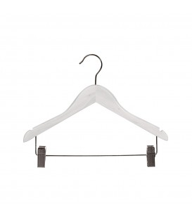 Hanger Child Timber with Rail and Clips 350mm wide White