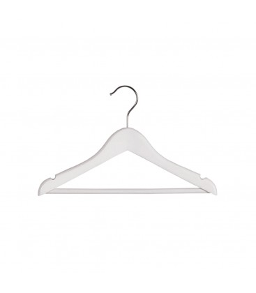 Hanger Baby Timber with Rail and Notches 310mm wide White