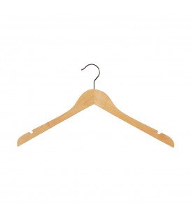 Hanger Skirt Shirt Timber with Notches 410mm wide Beech