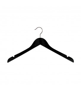 Hanger Shirt  Timber with Notches 410mm wide Black