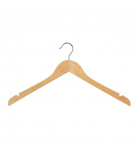 Hanger Shirt Timber with Notches 440mm wide Beech