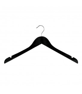 Hanger Shirt Timber with Notches 440mm wide Black