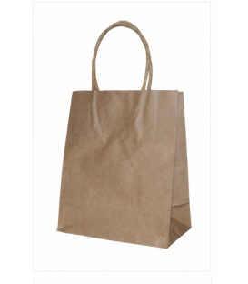 Brown Runt Paper Carry Bag Portrait