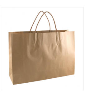 Brown small boutique Paper Carry Bag Portrait