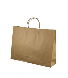 Brown  midi boutique Paper Carry Bag Portrait