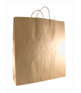 Brown  Large Paper Carry Bag Portrait
