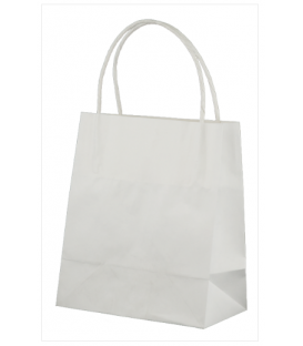 White Toddler Paper Carry Bag Portrait