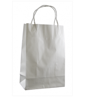 White Junior Paper Carry Bag Portrait