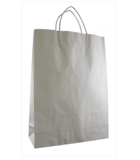 White Midi Paper Carry Bag Portrait