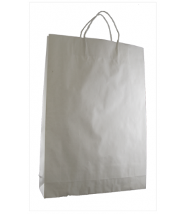 White  medium Paper Carry Bag Portrait