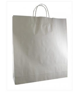 White  Large Paper Carry Bag Portrait