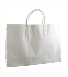 White small boutique Paper Carry Bag Portrait