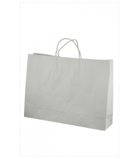white  midi boutique Paper Carry Bag Portrait