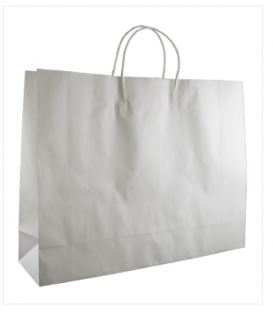 White  boutique Paper Carry Bag Portrait