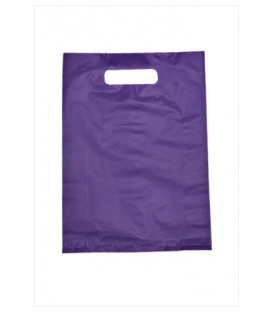 Small Purple Boutique Bags - HDPE