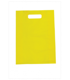 Small Yellow Boutique Bags - HDPE