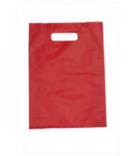 Small Red Boutique Bags - HDPE