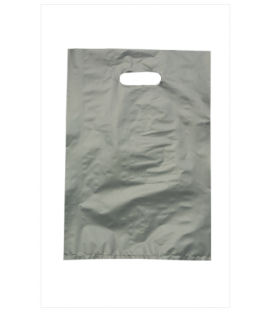 Small Silver Boutique Bags - HDPE