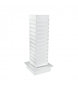Slatwall Spinner Unit Small White
