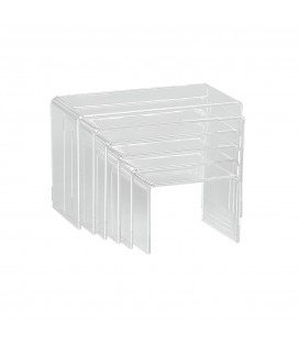 Riser Rectangular Set of 6 Clear Acrylic