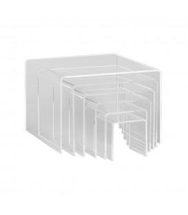 Riser Square Set of 6 Clear Acrylic