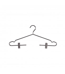 Deluxe Metal Hanger with Clips 420mm Wide Chrome