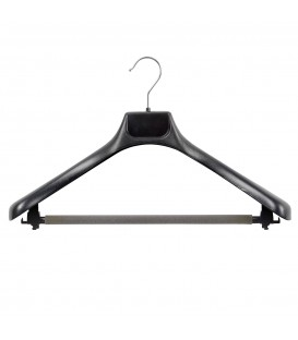 Suit Hanger Plastic 420mm Wide Black
