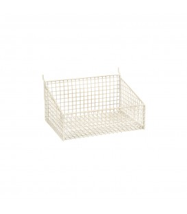 Small Mesh Basket for Slatwall 250x185x125mm High White