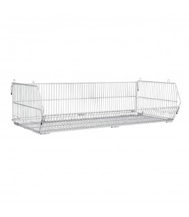 Wire Basket Stackable & Collapsible White
