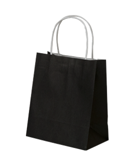 Black Paper Bags with Carry Handle