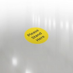 Floor Sticker -Anti Slip - Please Stand Here