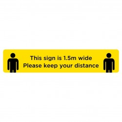 Floor sticker anti slip Keep Your Distance 1.5 metre